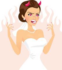 Dessin mariée en colère